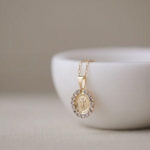Baby Jesus Necklace   18k Gold Filled
